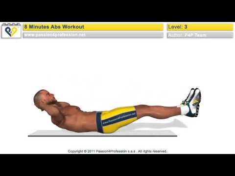 Ab WorkOuts – How to Get SIX PACK in 8 Minutes (insanity level)