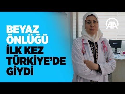 Beyaz önlüğü ilk kez Türkiyede giydi