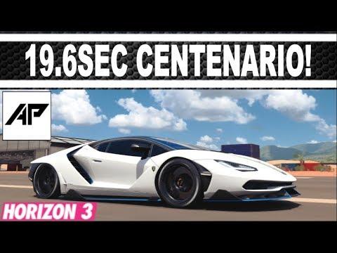 Forza Horizon 3 Lamborghini Centenario Drag Tune 19 687 Second