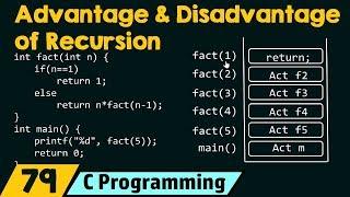 Advantage and Disadvantage of Recursion