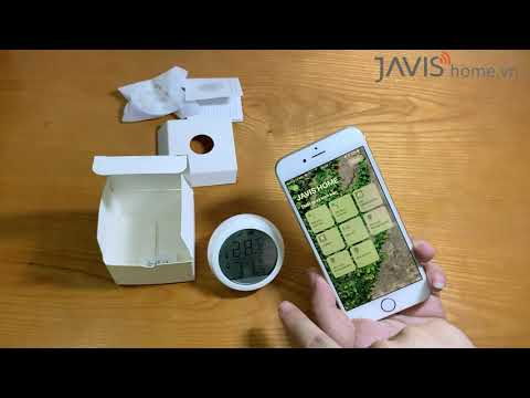 Cảm biến thông minh có màn hình  LCD kết nối Zigbee vào bộ Javis HC | Nhà thông minh JAVIS