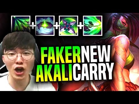 FAKER Shows the POWER of NEW AKALI REWORK! - SKT T1 Faker Picks New Akali Rework Mid! | SKT Replays