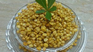 Fried Chana Dal Recipe | Crunchy Split Bengal Gram Snack Recipe
