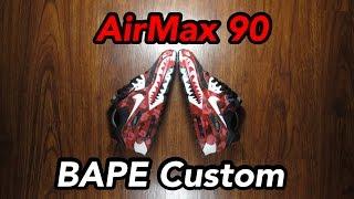 Air Max 90 Bape Custom! (CRAZY