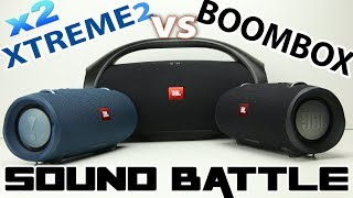 2x JBL XTREME 2 vs BOOMBOX : Sound Battle