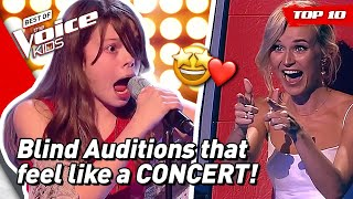 BLIND AUDITIONS that turn into CONCERTS on The Voice Kids! 🤩 | TOP 10