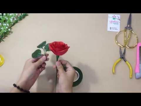 Hướng dẫn bó hoa hồng đơn siêu dễ- Sakura Handmade Shop