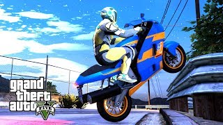 """POSZUKIWANY MISTRZ STUNTÓW! w GTA 5 Online Hogaty SOLO """"BARIERKA MNIE POKONA!"""""""