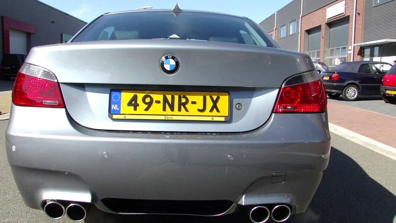 BMW E60 545I DUPLEX M5 EXHAUST - SPORTUITLAAT - UITLAAT ...