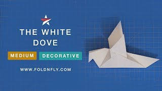 Fold 'N Fly ✈ The White Dove Decorative Paper Airplane
