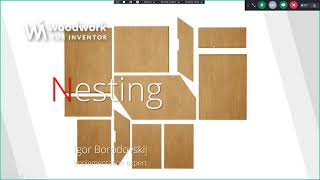 Woodwork for Inventor with Nesting