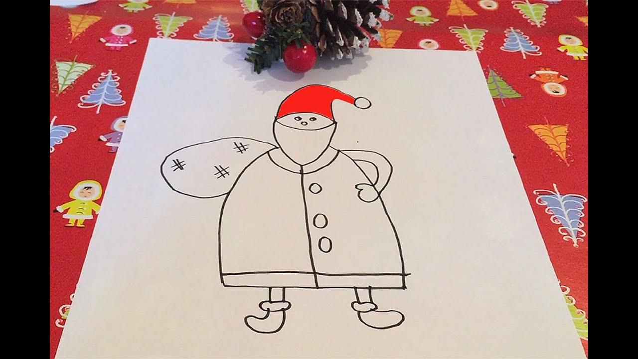 Como Dibujar A Papa Noel Con Los Ninos Youtube