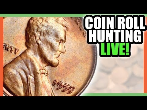 COIN ROLL HUNTING PENNIES - FINDING RARE PENNIES WORTH MONEY?!!