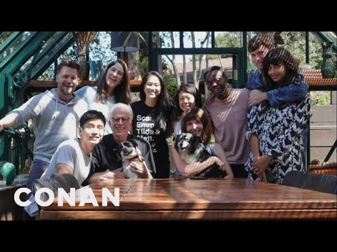 "Jameela Jamil & The Cast Of ""The Good Place"" Had A Sleepover At Ted Danson's House - CONAN on TBS"