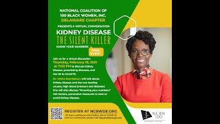 "Kidney Disease The Silent Killer ""Know your Numbers"""
