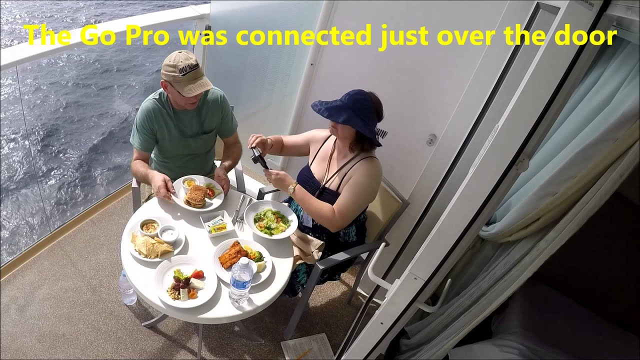 Oasis of the seas lunch on our balcony go pro 4 silver for On our balcony