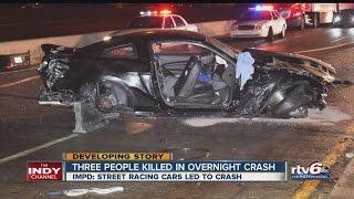 Police ID victim of deadly street racing crash