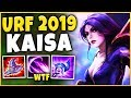 *CRAZY RANGE ONE-SHOTS* AP KAI'SA JUST BECAME GOD-MODE (URF 2019) - League of Legends