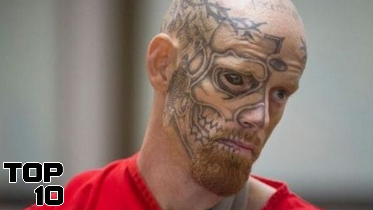 Top 10 most dangerous criminals still on the loose youtube for Prison eye tattoos
