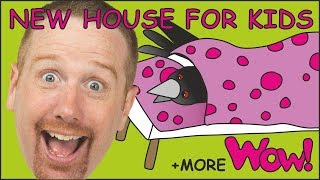 New House for Kids + MORE Stories for Children from Steve and Maggie   Wow English TV