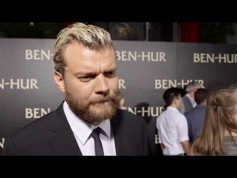 "Ben-Hur: Pilou Asbak ""Pontius Pilate"" Red Carpet Movie Premiere Interview"