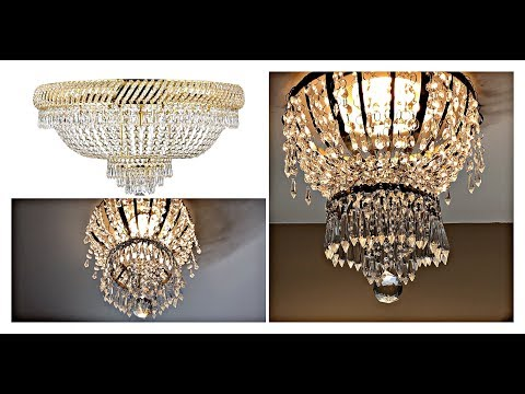 The MOST Amazing 😱 Easy And Inexpensive DIY GLAM Crystal Chandelier!
