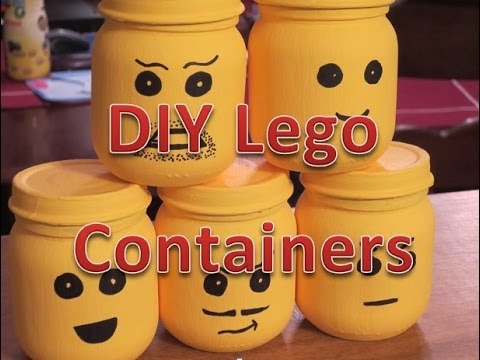 DIY Lego Containers Decoration Or Party Favors
