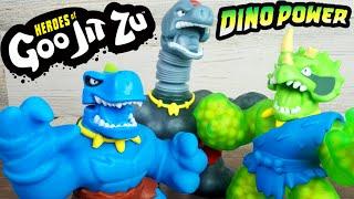 New Dino Power! Heroes of Goo Jit Zu Super Gooey Crunchy Sensory Toys With Chomping Power!