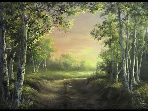 Birch Forest at Sunset | Paint with Kevin Hill