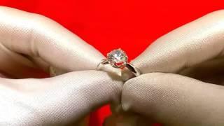 Серебряное кольцо с фианитом Sokolov 89010030