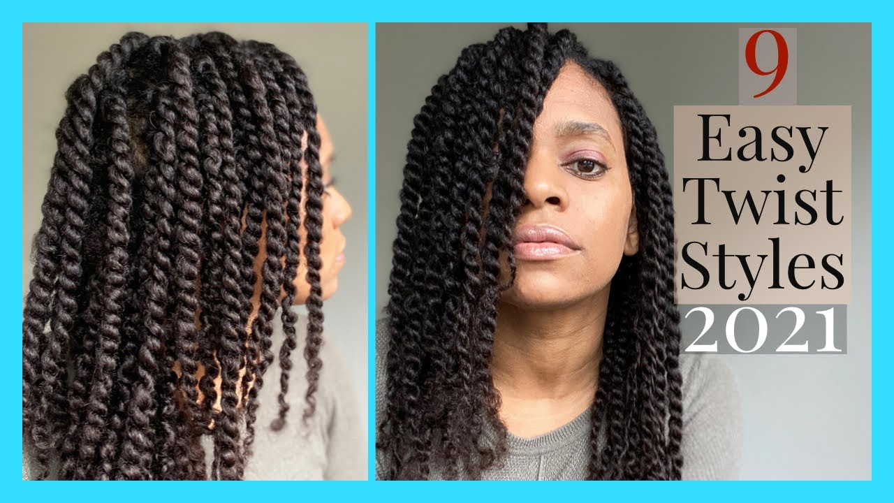 Mini Twist Styles for Natural Hair| Hairstyles for Black Women| Summer 2020 - YouTube
