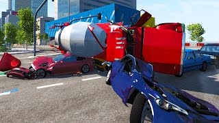 Realistic High Speed Expressway Crashes With Ramps! - BeamNG Drive Crash Test Compilation Gameplay