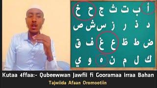 Tajwiida AfaanOromootiin Kutaa 4ffaa