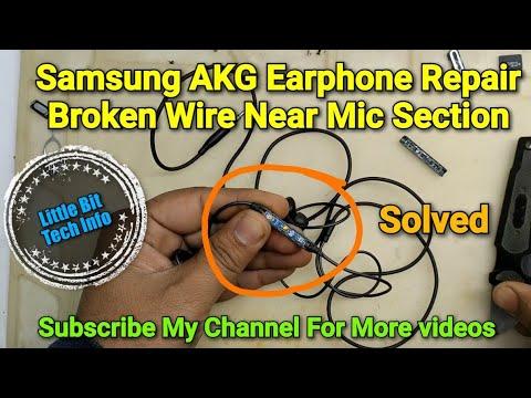 Samsung AKG Earphone Broken Wire Near Mic Section Repair