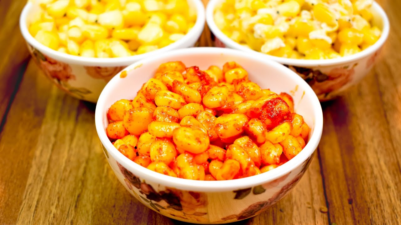 Download Sweet Corn 3 Ways - Cheese, Butter & Masala Sweet Corn Recipe | Bhoomi's Quick Recipes
