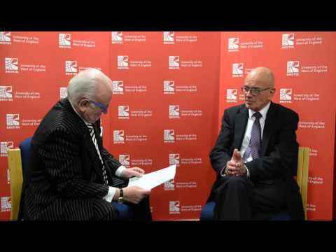 Sir Stephen Wall, Vice-Chair of Business for New Europe, interview at UWE Bristol