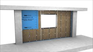 Aquapanel - Installation Of A Double Stud Wall Including Window Connection
