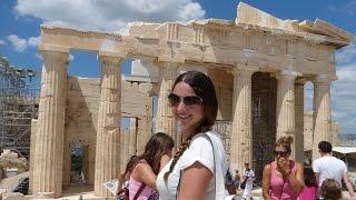 Minha viagem para Atenas - Acrópole. Estádio Panatenaico.