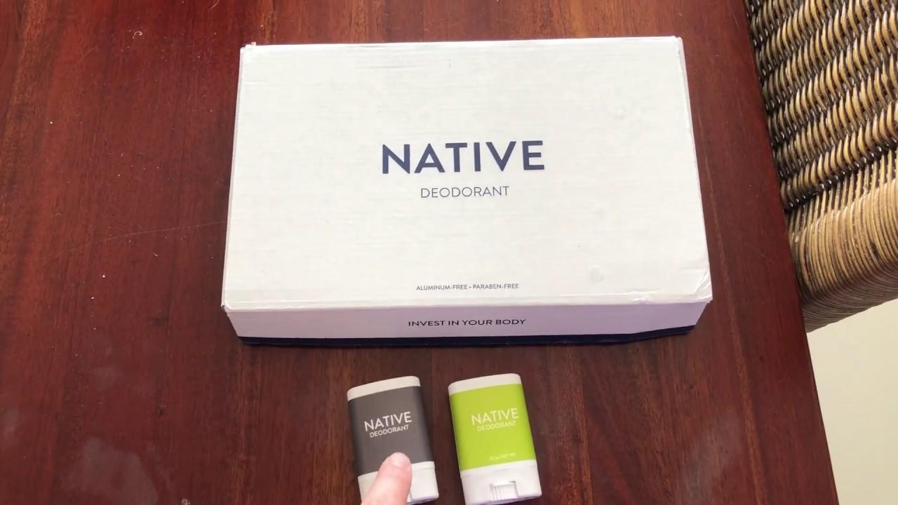 Native Deodorant Unboxing