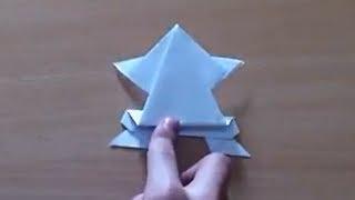 Faire une Grenouille en origami - Grenouille sauteuse en papier
