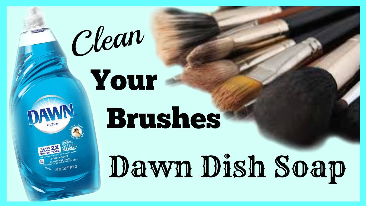 How I Clean My Brushes With Dawn Diy Makeup Brush Cleaner Youtube