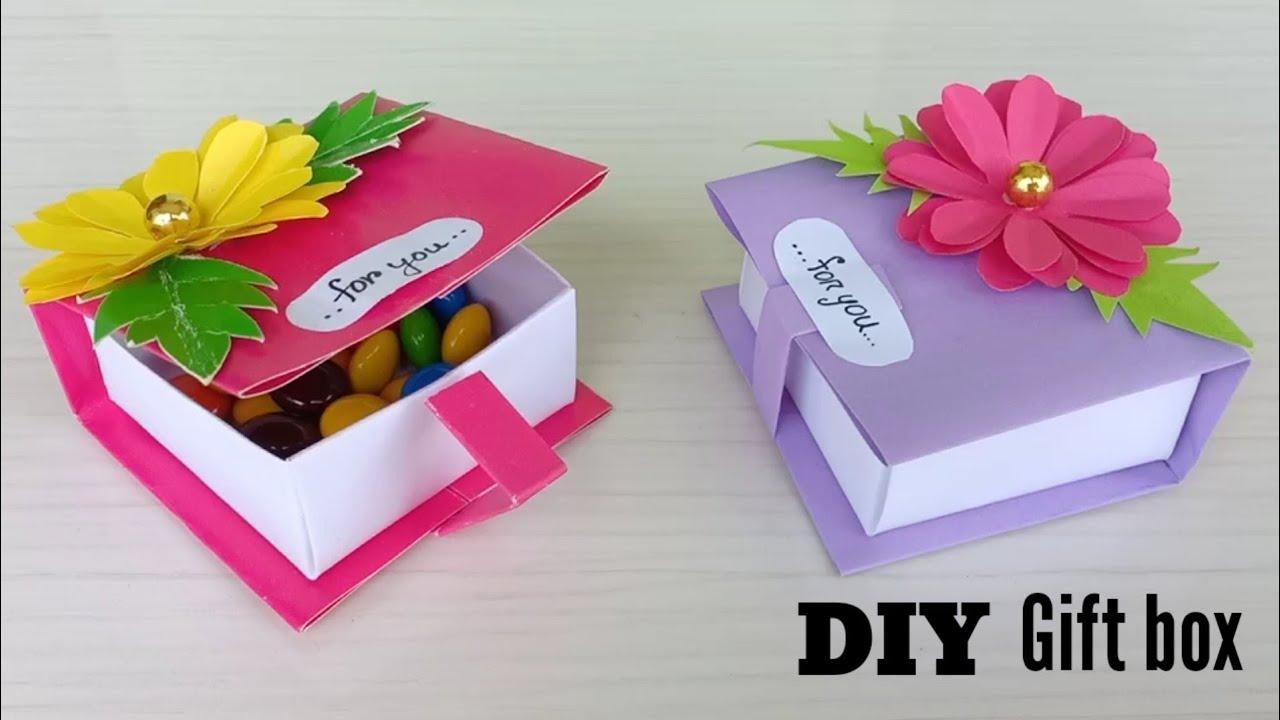 Diy Gift Box Ideas Gift Ideas Gift Box Handmade Gift Box Idea Origami Box Gift Box For Friend Youtube