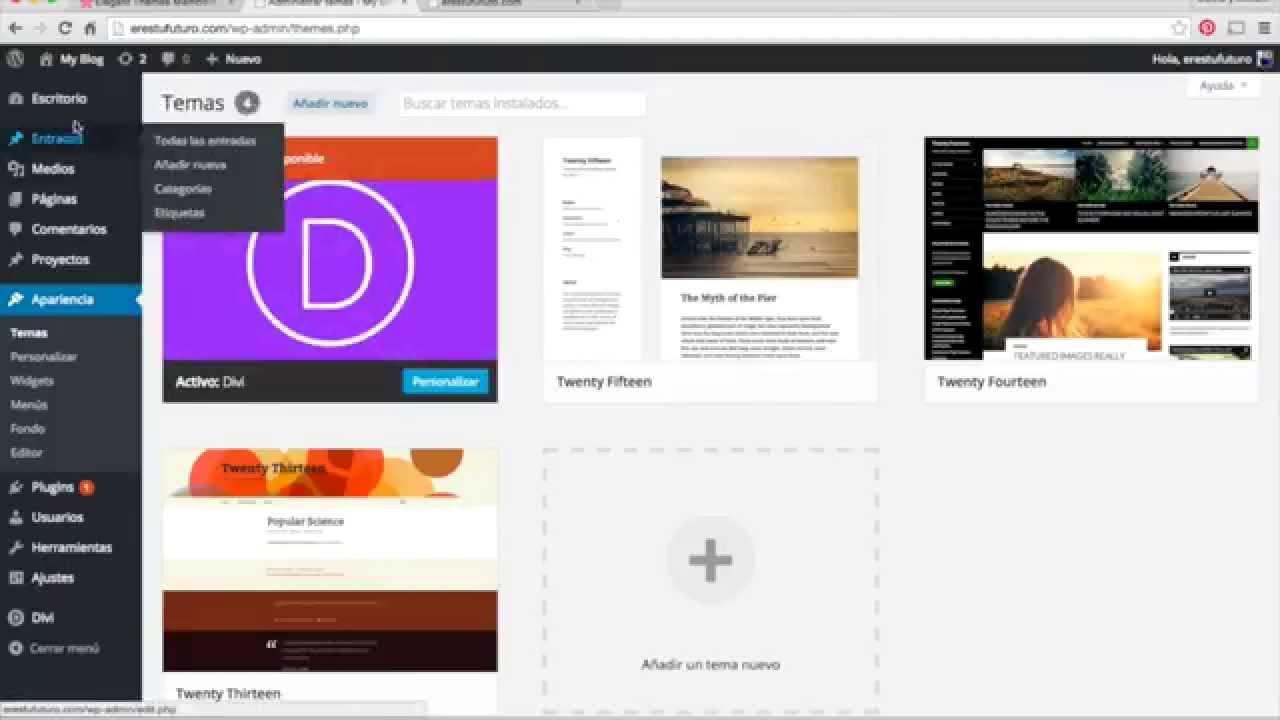 Como hacer una pagina de inicio con DIVI de elegant themes - www ...