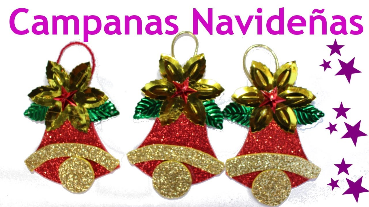 Manualidades para navidad campanas navide as for Figuras navidenas para decorar