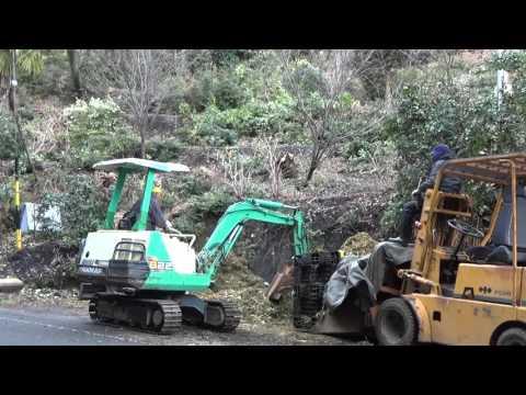 28年1月20日堆肥作り 剪定樹木刈り草等の粉砕チップ運搬