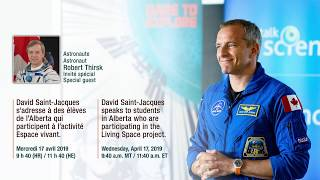 LIVE David Saint Jacques speaks to students about their Living Space project results