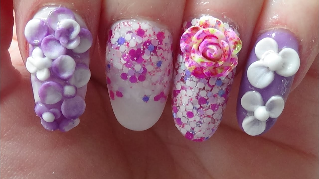 First Time Using Nail Forms Acrylic Nails 3d Nail Art Youtube