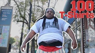 I Tried Wearing 100 T-SHIRTS For 24 HOURS! (And This Is What Happened)