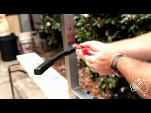 DIY Stainless Wire Balustrading System S - using blind rivet nuts as the anchor points.wmv