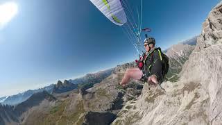 Paragliding Schusterplatte near Tre Cime di Laveredo with my Airdesign UFO Hike\u0026Fly GoPro Fusion